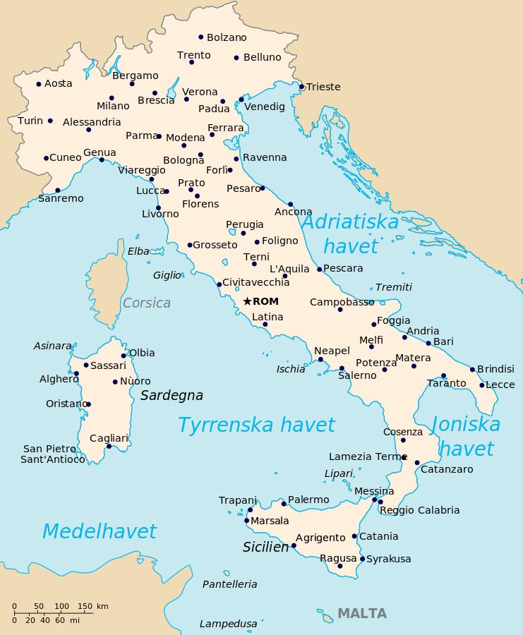 Italien Karta
